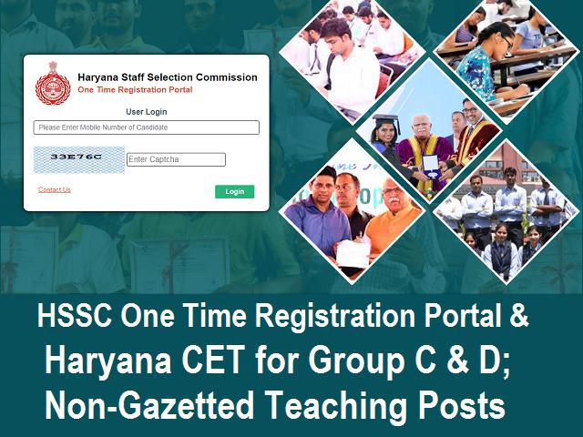 HSSC One Time Registration portal & CET