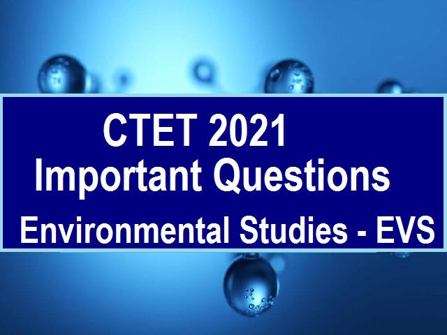 CTET EVS Questions & Syllabus