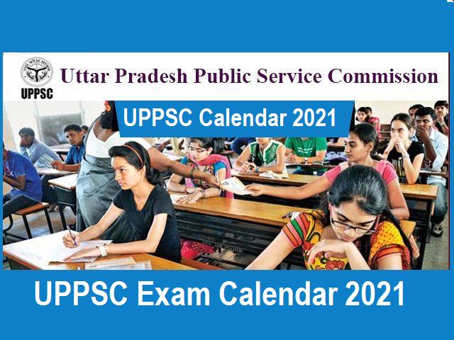 UPPSC Calendar 2021-Download PDF