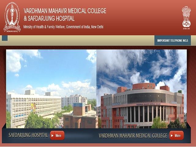 Safdarjung Hospital VMMC DelhiRecruitment 2021