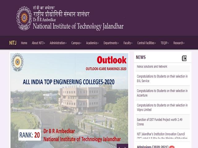 Dr. B R Ambedkar NIT Jalandhar Recruitment 2021: Apply for Faculty Posts