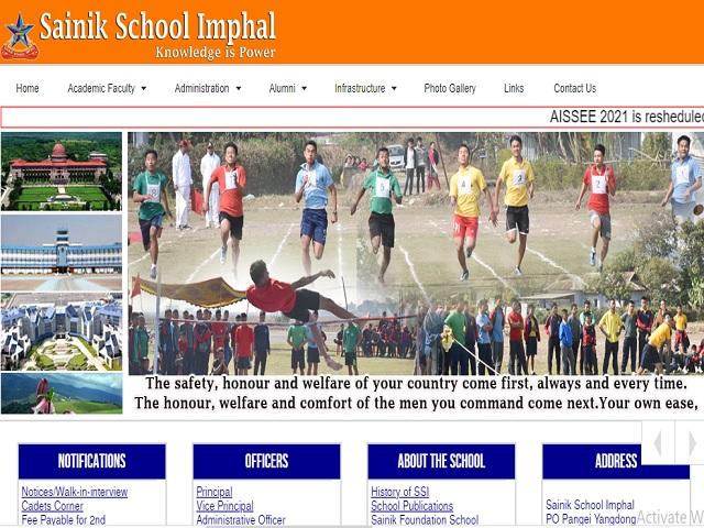Sainik School Imphal Ward Boy, PEM/PTI cum Matron & Female General Employee (Ayah) Posts 2021