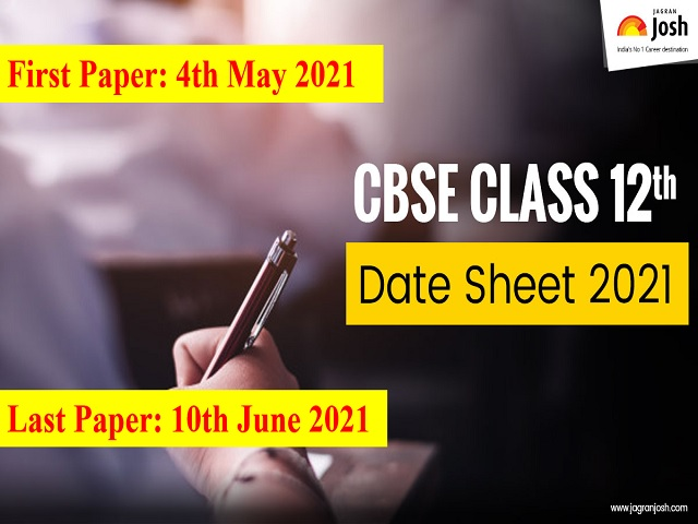 CBSE 12th Date Sheet 2021: CBSE 12th Time Table 2021 (Science, Commerce, Arts)