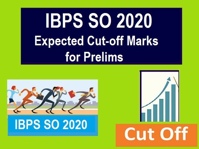 IBPS SO Cut Off 2020