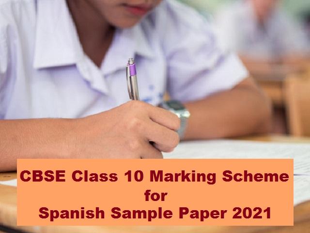 CBSE Marking Scheme for Class 10 Spanish Sample Question Paper 2021