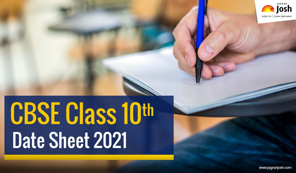 CBSE 10th Date Sheet 2021: CBSE Class 10th Time Table 2021