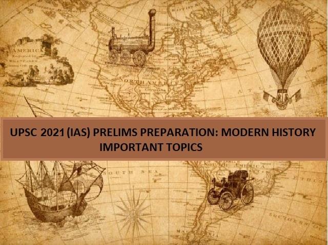 UPSC Prelims Modern History Topics