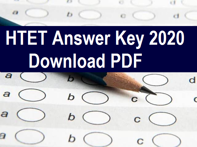 HTET 2020 Answer Key