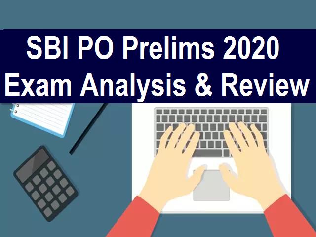SBI PO Prelims Exam Analysis 2020