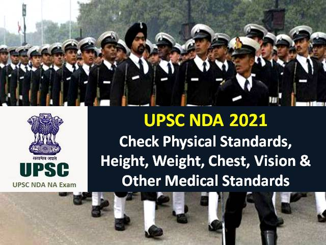UPSC NDA 2021 Physical Standards Required for Selection: Check Height, Weight, Chest, Vision & Other Medical Standards to Join Indian Army/Navy/Air Force