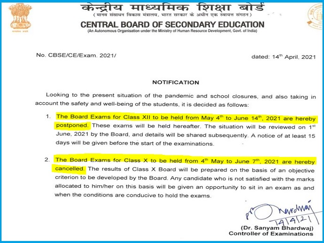 Will CBSE Postpones Class 10th & 12th Board Exam 2021? Here Are The Latest Updates