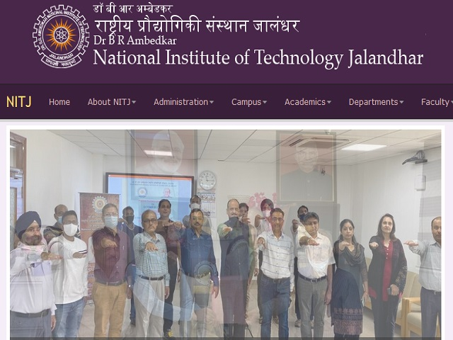 NIT Jalandhar Recruitment 2021