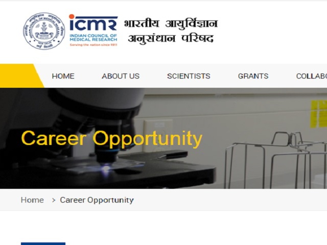 ICMR Scientist D Recruitment Job Notification