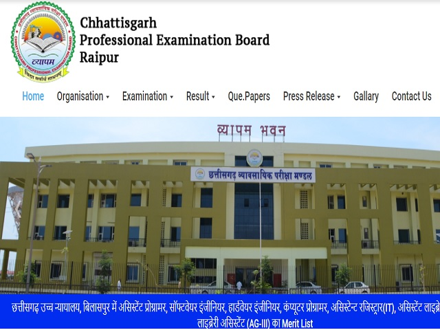 CGVyapam Admit Card 2021