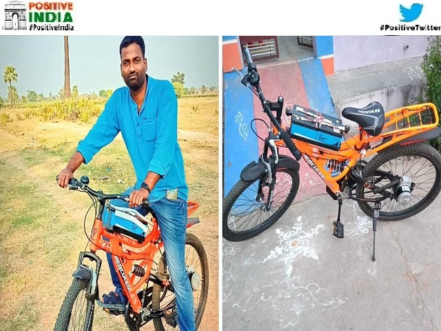 Telangana Man Rajkumar Mupparapu Builds Battery-Operated Solar Bicycle story in hindi