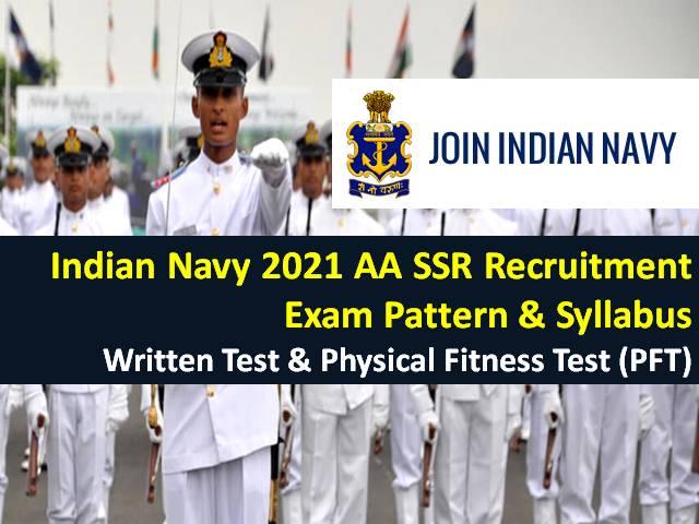 Indian Navy 2021 AA SSR Recruitment Exam Pattern & Syllabus: Check Written Test & Physical Fitness Test (PFT) Details