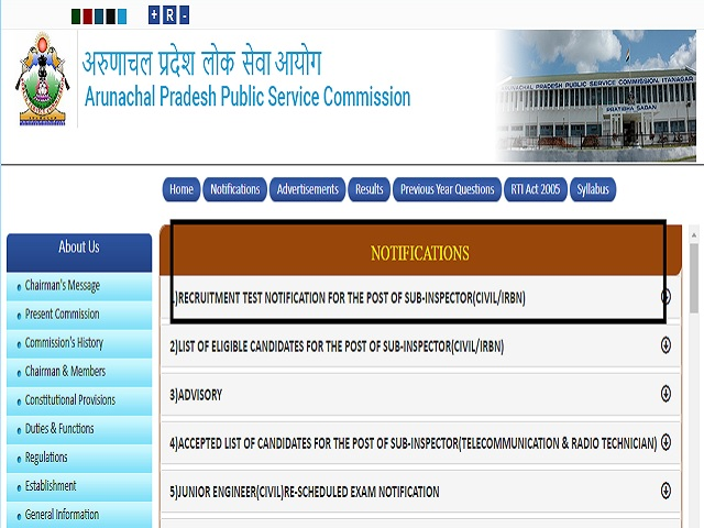 APPSC SI Admit Card 2021