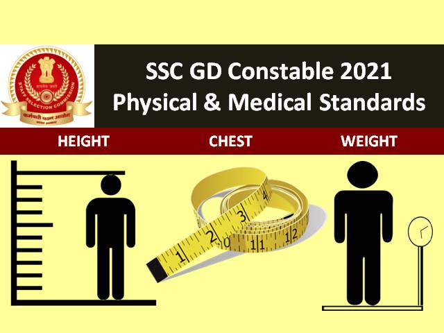 SSC GD Constable Registration @ssc.nic.in till 31st August 2021: Check Physical Standards, Height, Weight & Other Medical Standards
