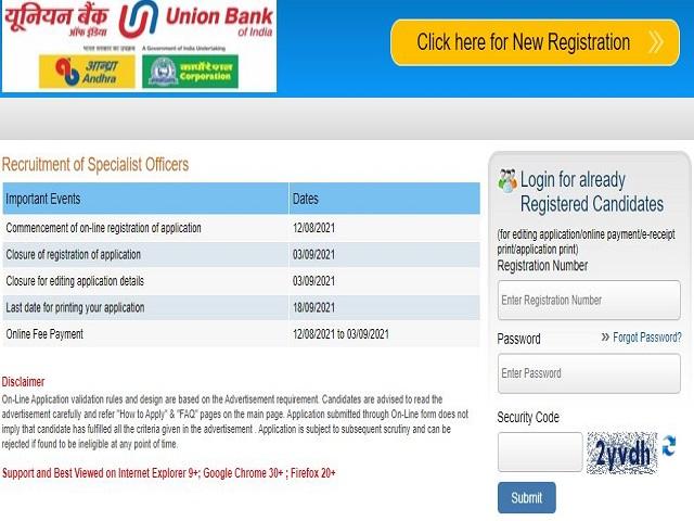 Union Bank of India Recruitment 2021