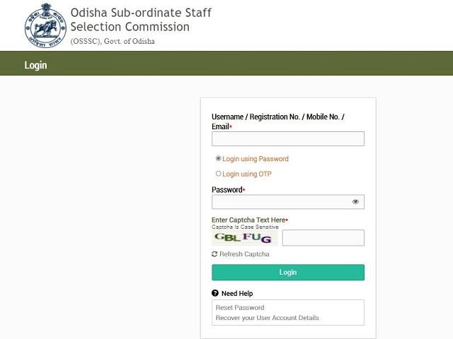 OSSSC RI Admit Card 2021