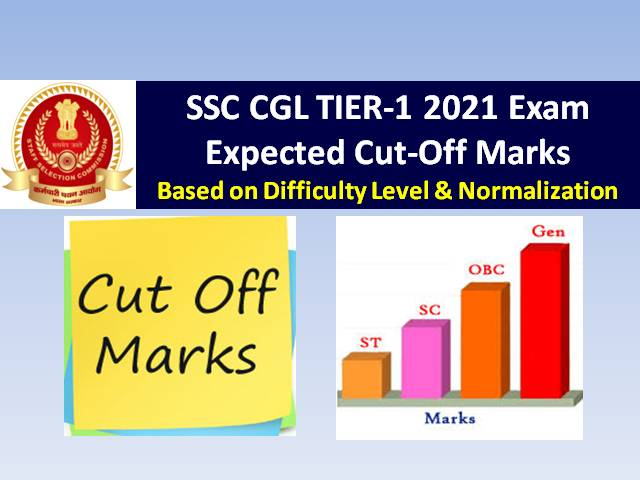 SSC CGL Expected Cutoff Marks 2021 (Answer Key Released @ssc.nic.in): Check Categorywise (Gen OBC EWS SC ST) & Postwise Tier-1 Exam Previous Cutoff