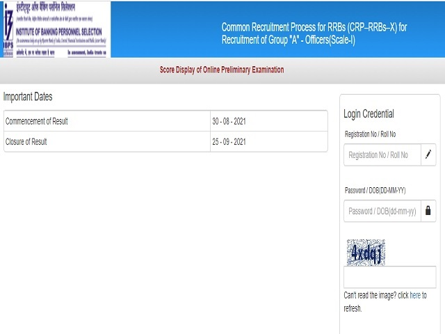 IBPS RRB PO Score Card 2021