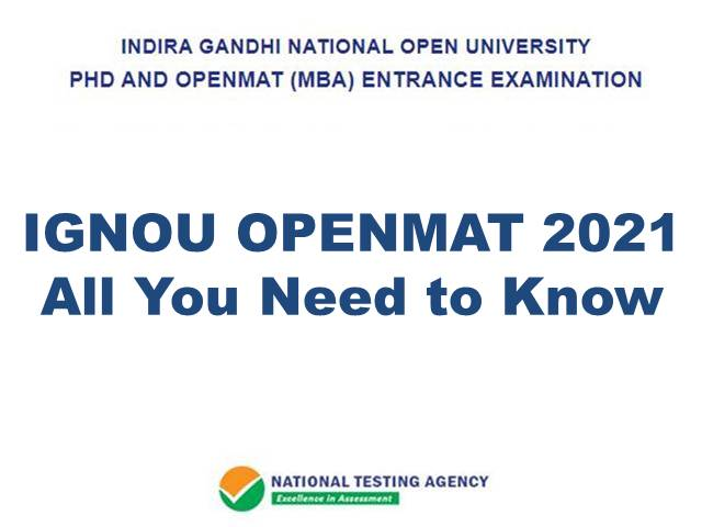 IGNOU OPENMAT 2021: Application, Registration, Important Dates