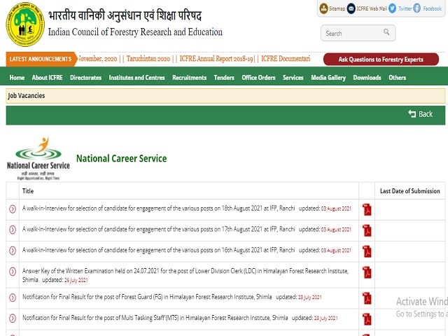Institute of Forest Productivity (IFP) Ranchi JPA, JPF and PA Posts