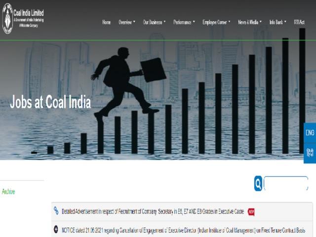 Coal India Recruitment 2021