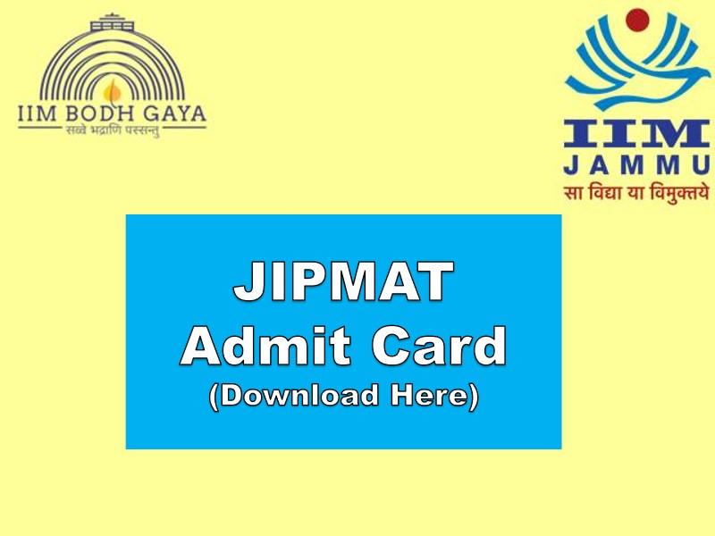 JIPMAT Admit Card 2021