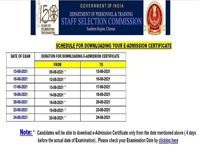 SSC SR CGL Admit Card 2021