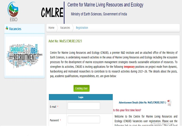 CMLRE Recruitment 2021: Apply Project Manager, Project Scientist and Other Posts