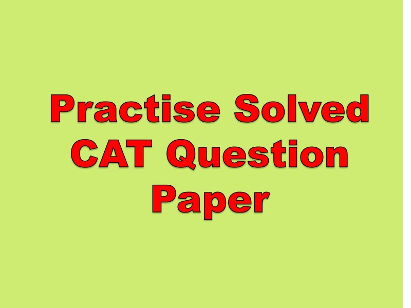 Solved CAT Question Paper 2021