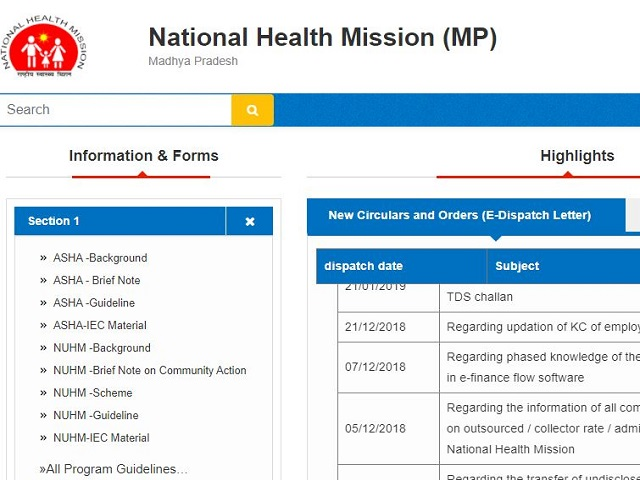 NHM MP Admit Card 2021