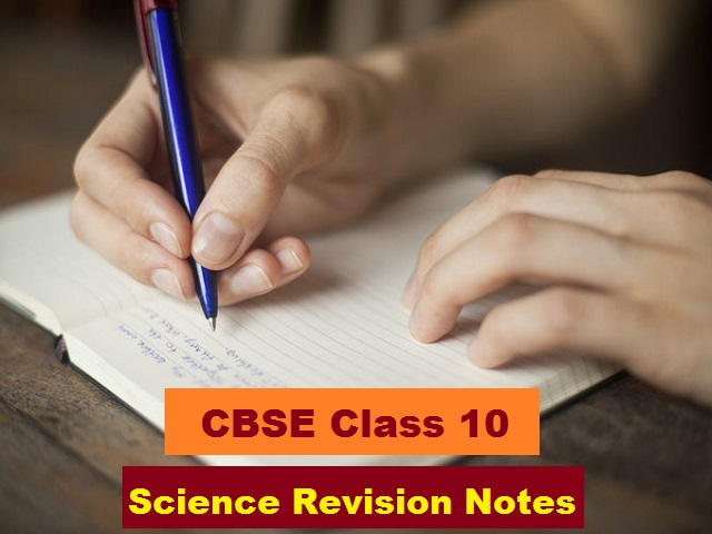 CBSE Class 10 Science Revision Notes All Chapters