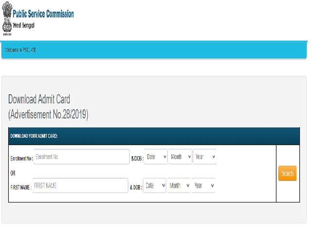WBPSC Audit and Accounts Service Mains Admit Card 2021