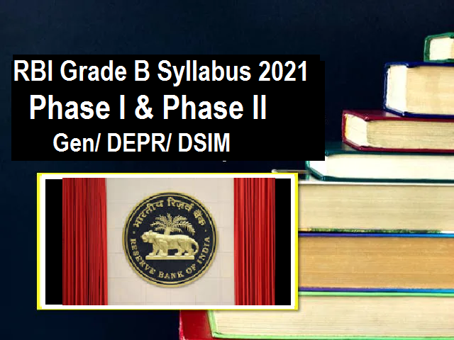 RBI Grade B Syllabus and Exam Pattern 2021