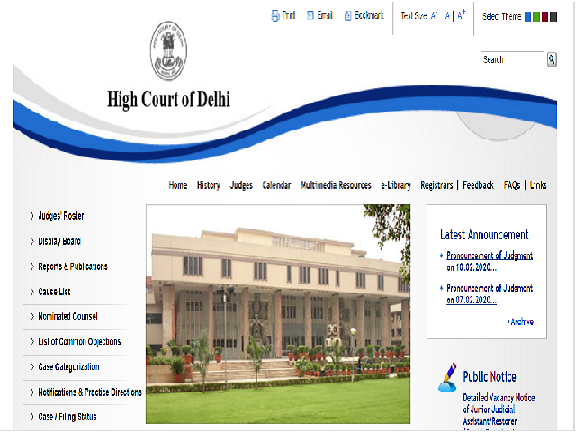 Delhi High Court Result 2021