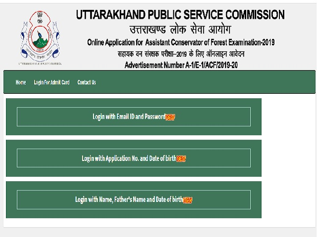 UKPSC ACF Mains 2019 Admit Card 2021