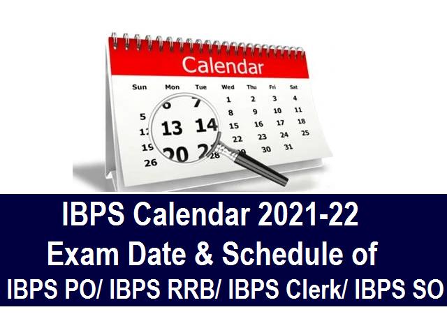 IBPS Calendar 2021