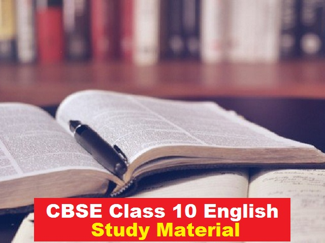 CBSE Class 10 English Study Material PDF