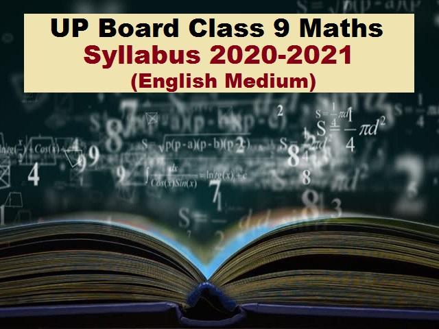 UP Board Class 9 Maths Syllabus PDF English Medium