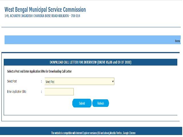 MSCWB Admit Card 2021