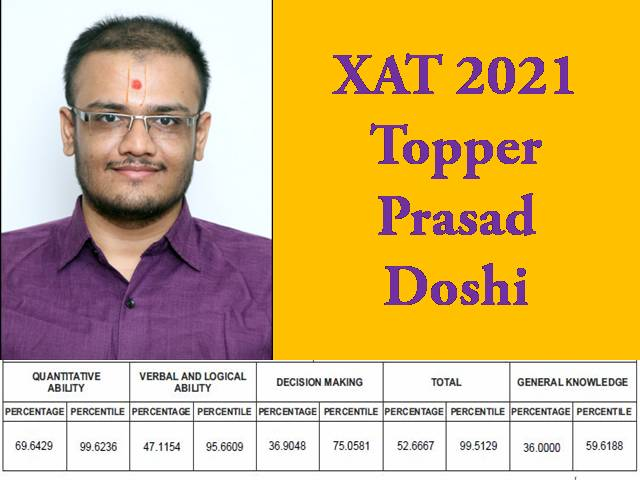 XAT 2021 Topper Interview – Read Success Story of Prasad Doshi, whose Brother is also an XLRIan