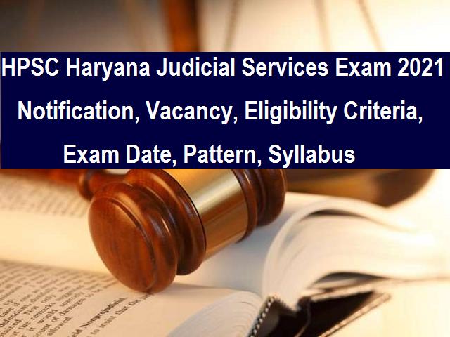 HPSC Haryana Judicial Services Exam 2021