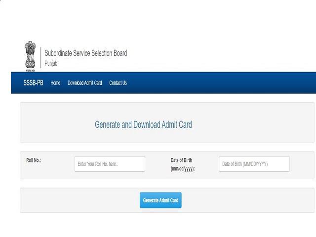 PSSSB Admit Card 2021