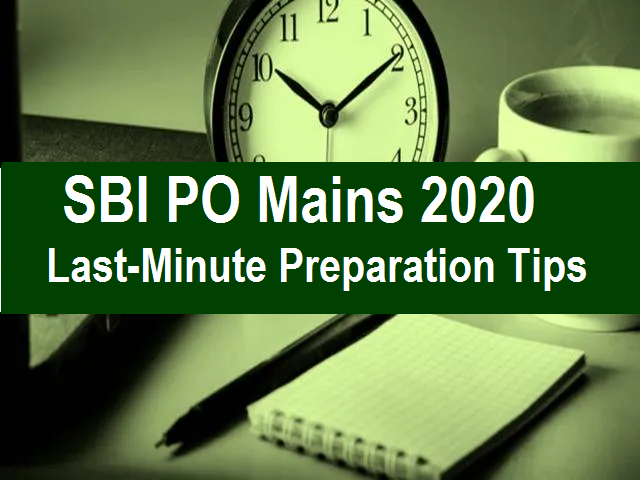 SBI PO Mains 2020