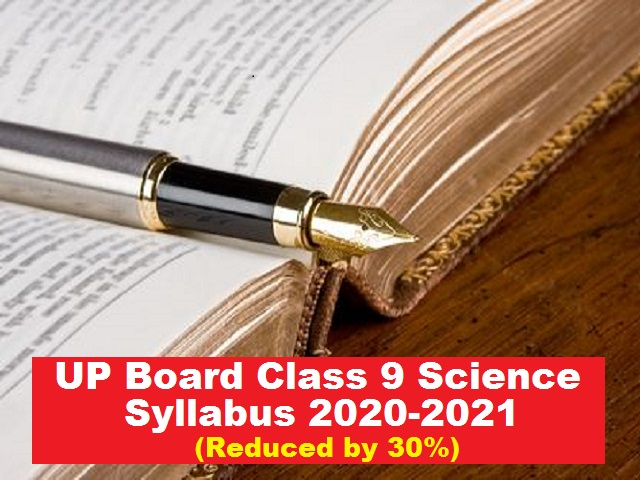 UP Board Class 9 Science Syllabus PDF English Medium
