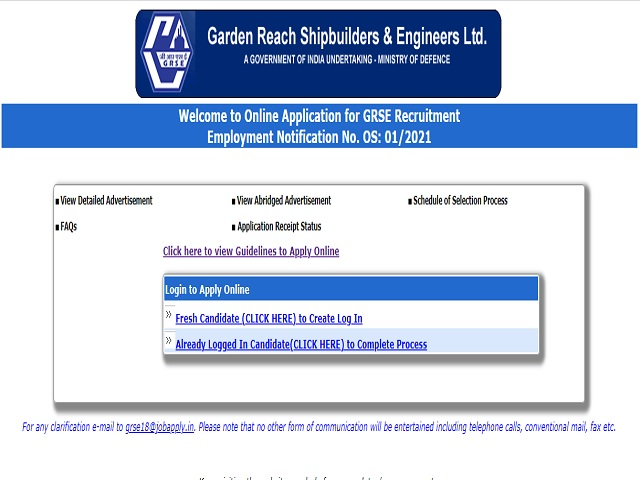 GRSE Recruitment 2021: General Manager, Senior Manager and Other Posts