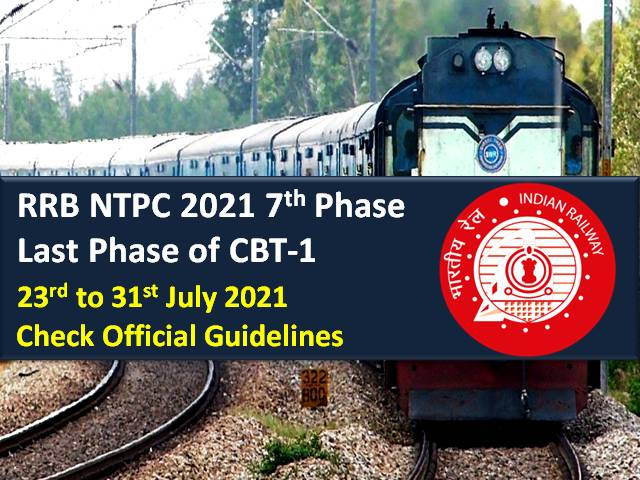 RRB NTPC 7th & Last Phase of 2021 CBT-1 Exam: Check Official Admit Card Instructions & COVID-19 Guidelines Issued by Railway Recruitment Board